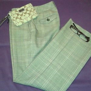 Ann Taylor Loft Lined Brown Check Trouser